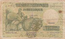 Belgique 50 Francs 23-01-1943 - Charrette à chevaux, fruits, bateau