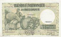 Belgique 50 Francs 25-01-1943 - Charrette à chevaux, fruits, bateau