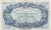 Belgique 500 Francs 14-10-1941 - Bleu