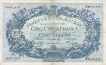 Belgique 500 Francs 29-01-1942 - Bleu