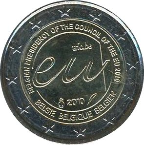Belgique EUR.100 2 Euro, Présidence Européenne