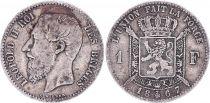 Belgium 1 Franc, Léopold II - Armories- 1867