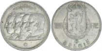 Belgium 100 Francs - 4 King - 1948 - Silver - VF - Netherland text
