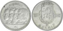 Belgium 100 Francs - 4 King - 1949 - Silver - VF - Netherland text
