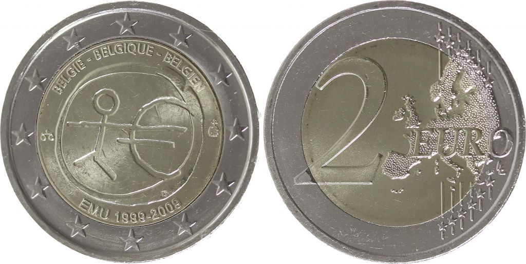 Belgium 2 Euro 10 years of EMU  - 2009