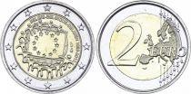 Belgium 2 Euro 30 ans Drapeau Européen - 2015