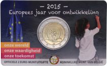 Belgium 2 Euro Year of the development - 2015 Coincard BU