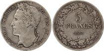 Belgium 5 Francs Leopold I - 1833 - 2 em ex