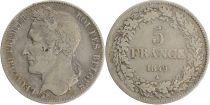 Belgium 5 Francs Leopold I - 1849