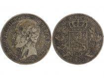Belgium 5 Francs Leopold I - Arms - 1865