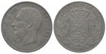 Belgium 5 Francs Léopold II - Armoiries - 1876