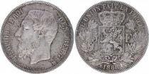 Belgium 5 Francs Leopold II - Arms - 1868
