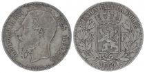 Belgium 5 Francs Leopold II - Arms - 1869