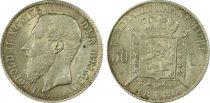 Belgium 50 Cents Leopold II - Arms - 1886 - PCGS UNC DETAILS