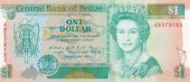 Belize 1 Dollar Elizabeth II - Fonds marins - 1990