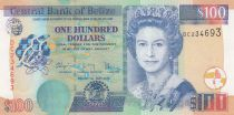Belize 100 Dollars Elizabeth II,  Toucan, pecari, Birds - 2016