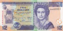 Belize 2 Dollars Elizabeth II,  Maya ruins of Belize - 2017 - UNC - P.66