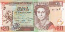 Belize 20 Dollars, Elizabeth II - Jaguar - 2017 (2018) - UNC - P.69