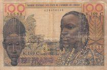 Bénin 100 Francs masque  - Burkina Faso - Série K.169