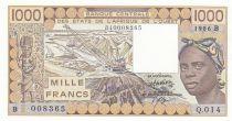 Bénin 1000 Francs femme 1986 - Bénin - Série Q.014
