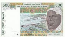 Bénin 500 Francs homme 1991 - Bénin