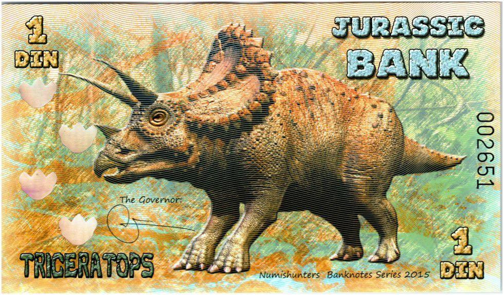 Beringia 1 Din, Jurassic Bank - Tricératops - 2015