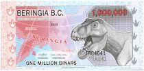 Beringia 1000000 Dinars, T-Rex - Dinosaurus - 2012