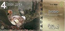 Beringia 4 Ice Dollars, Dodo - Disparition du Dodo - 2015