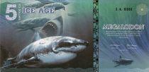 Beringia 5 Ice Dollars, Requin Geant - Megalodon 2015