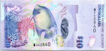 Bermuda 10 Dollars Blue Angelfish - the Deliverance - 2009