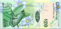 Bermuda 20 Dollars Whistling Frog - St. Mark\'s Church- 2009 (2013)