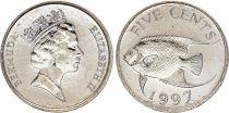 Bermuda 5 Cent Tropical fish - 1997