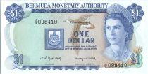 Bermudes 1 Dollar Elisabeth II - Bateaux - 1982