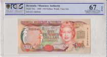 Bermudes 100 Dollars, Elisabeth II  - 2000 - PCGS 67 OPQ