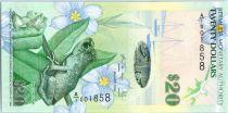 Bermudes 20 Dollars Grenouille et Fleurs - Phare - 2009 Série A.1