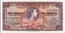 Bermudes 5 Shillings Elisabeth II - Armoiries - 1957 - Y1