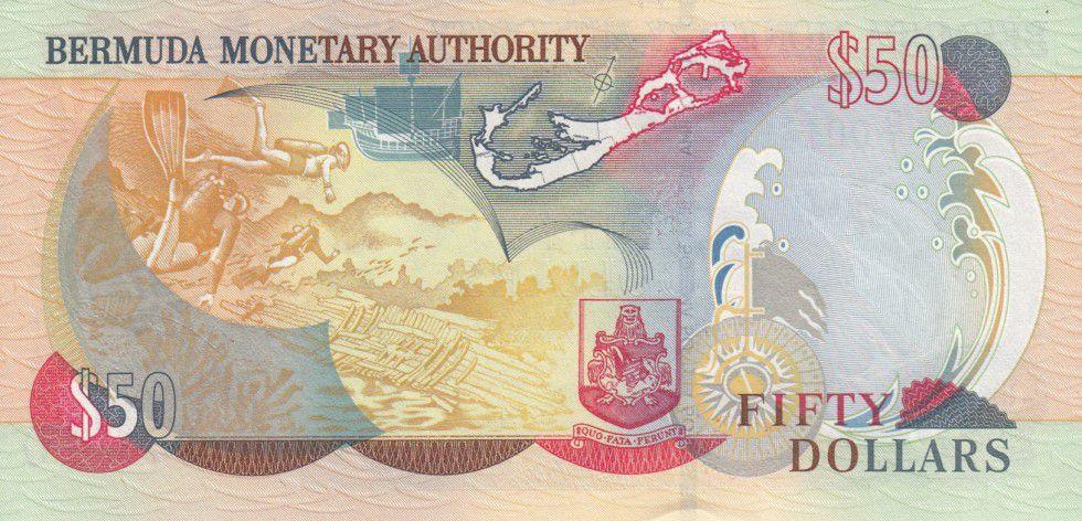 Bermudes 50 Dollars Elisabeth II, plongeurs - 2000