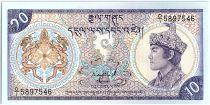 Bhoutan 10 Ngultrum,  Jigme Dorji Wangchuk - 1986 - P.15 a