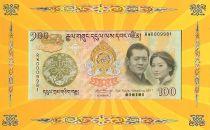 Bhoutan 100 Ngultrum J. Doriji Wangchuk - Mariage Royal - 2011