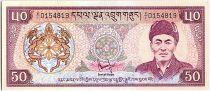 Bhoutan 50 Ngultrum,  Jigme Dorji Wangchuk - 1981 - P.10
