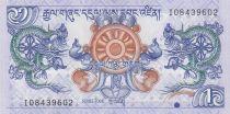 Bhutan 1 Ngultrum Dragons - Simtokha Palace - 2006