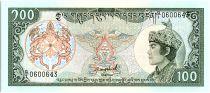 Bhutan 100 Ngultrum,  Jigme Dorji Wangchuk - 1986 - P.18 a