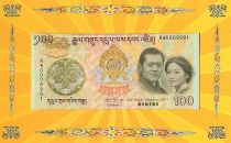 Bhutan 100 Ngultrum J. Doriji Wangchuk - Royal Wedding - 2011