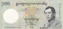 Bhutan 100 Ngultrum J. Doriji Wangchuk - Tashichlho Palace - 2006