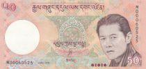 Bhutan 50 Ngultrum J. Doriji Wangchuk - Trongsa Palace - 2008
