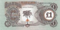 Biafra 1 Pound Palm Tree - 1968