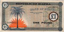 Biafra 1 Pound Palmier  - 1967 - Série AA