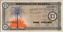 Biafra 1 Pound Palmier  - 1967 - Série AC