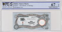 Biafra 10 Shillings Palm Tree - Factory - 1968 - PCGS 67 OPQ