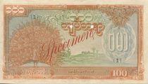 Birmanie 100 Kyats Paon